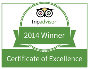 Trip Advisor – Certificate of Excellence '14